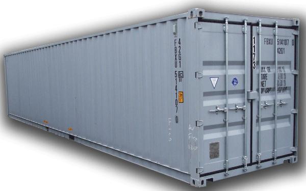 Mẫu container lạnh 40 feet màu xám